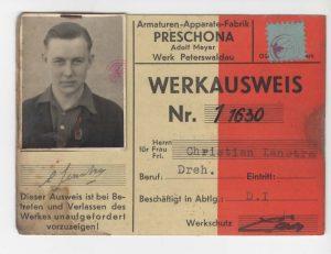 Ausweis Preschona Peterswaldau
